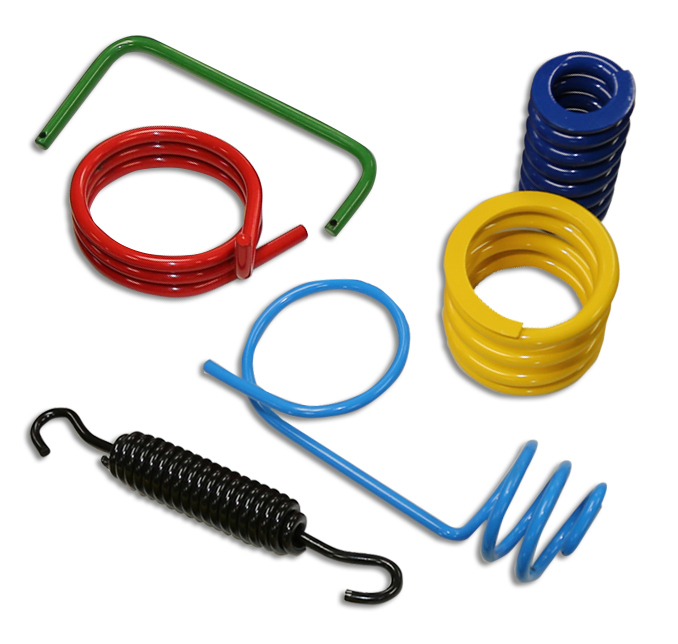 Myers Spring Built Lean™ springs and fabricated wire forms.