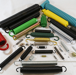 Extension springs include single, double and garage door extension springs.