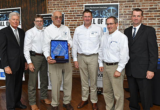 Myers Spring Honored by Indiana Manufacturers Association at Indiana Manufacturers Hall of Fame Luncheon.