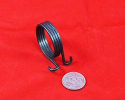 "Single torsion springs feature wire ranging from 0.006"" to 0.719"" diameter."